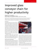 Improved glass conveyor chain for higher productivity