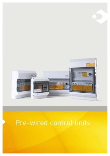 Pre-wired control unites for PV installations