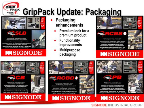 GripPack Update: Packaging