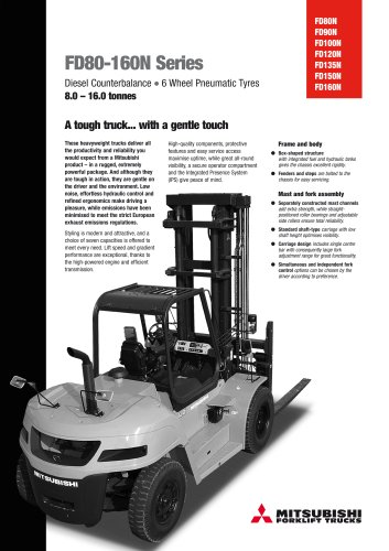 FD80-160N Series - Engine Powered Forklift Trucks 8-16 tonnes