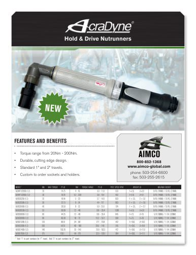 AcraDyne Hold and Drive Nutrunners