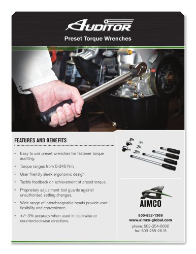 Auditor Preset Torque Wrenches