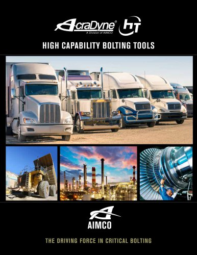 HIGH CAPABILITY BOLTING TOOLS