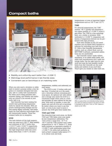 Compact Constant Temperature Calibration Baths