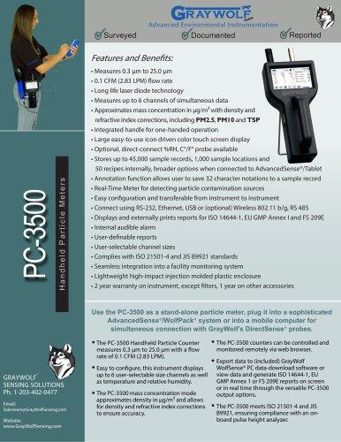 PC-3500 Handheld Particle Meter
