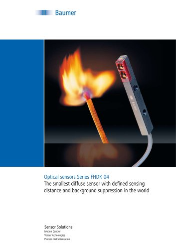 Flyer – Optical sensors Series FHDK 04