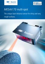 MESAX 70 multi-spot - The unique laser distance sensor for shiny and very rough surfaces.