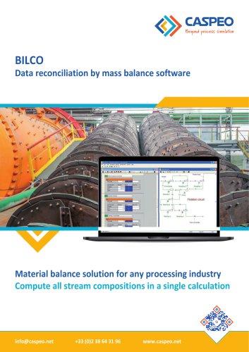 BILCO - Data reconciliation by mass balance software