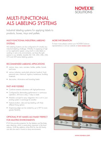 ALS labeling systems product brochure