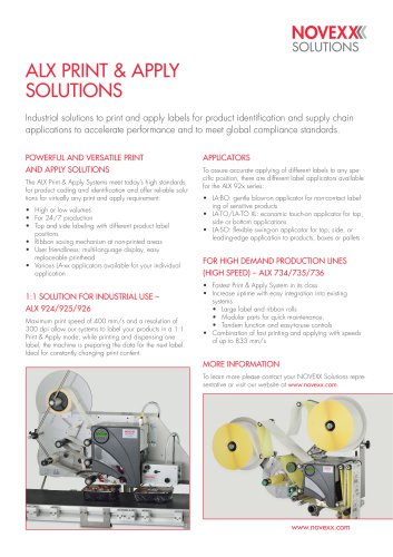 ALX 92x series product brochure