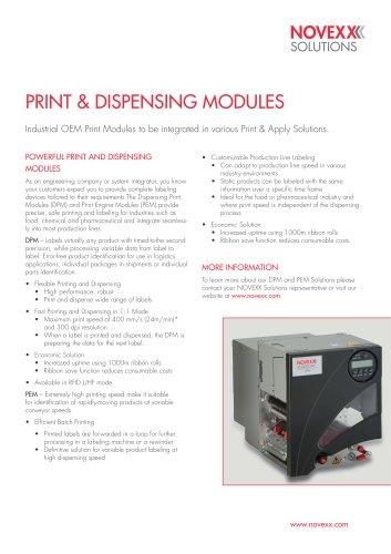 DPM / PEM product brochure