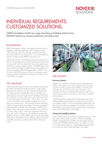 Individual requirements. Customized solutions.