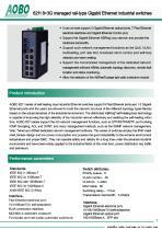 Managed ethernet switch  10 ports  gigabit Ethernet  DIN rail /AOBO 6211