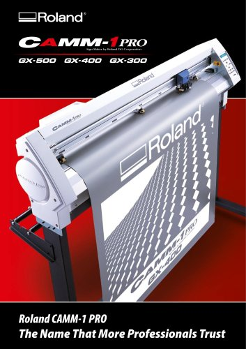 Cutting Plotters Brochure: GX-500 / GX-400 / GX-300