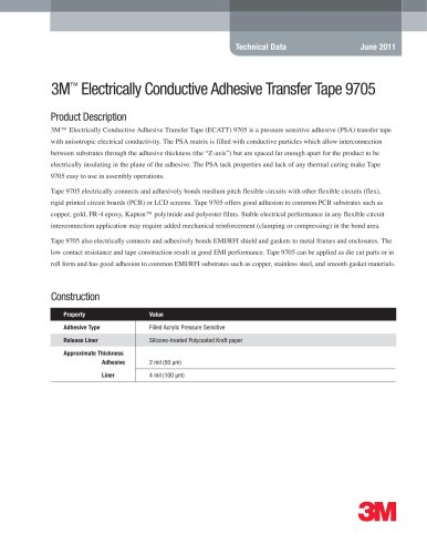 3M Electrically Conductive Adhesive Transfer Tape 9705