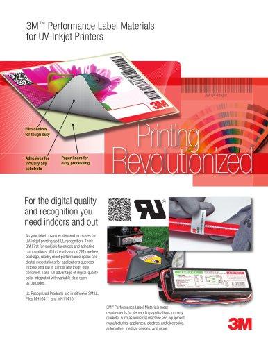 3M - Performance Label Materials for UV-Inkjet Printers