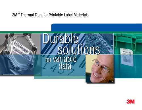 3M - Thermal Transfer Printable Label Materials - 3M Manufacturing