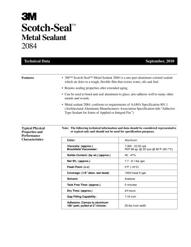 Scotch-Seal Metal Sealant 2084