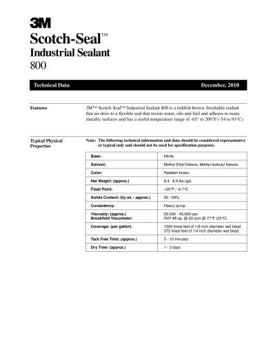 Scotch-SealTM Industrial Sealant 800