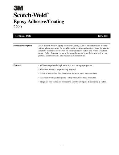 Scotch-Weld TM Epoxy Adhesive/Coating 2290