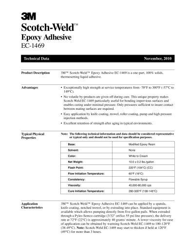 Scotch-Weld TM Epoxy Adhesive EC-1469