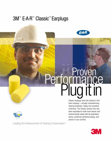 3M EAR Classic Earplug Brochure 70071574142
