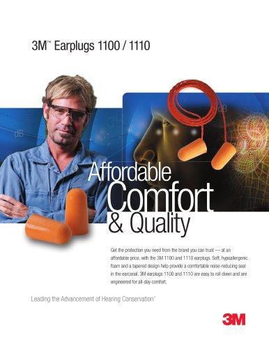 3M Earplugs 1100/1110