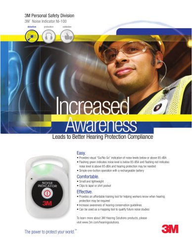 3M? Noise Indicator NI-100 Brochure - 3M Occupational Health