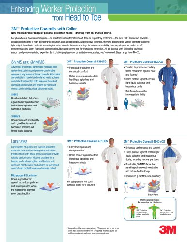 3M Protective Coveralls Collared Brochure