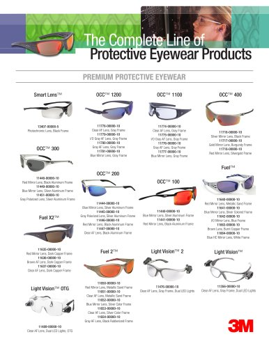The Complete Line of Protective Eyewear