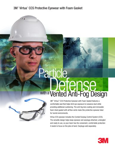 Virtua CCS Protective Eyewear with Foam Gasket