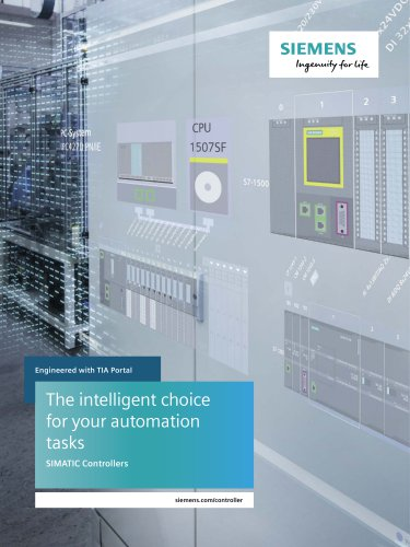 SIMATIC Controller: the intelligent choice for  your automation tasks