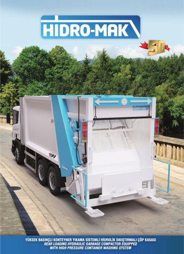Rear Loaded Garbage Truck Body with Container Washing System