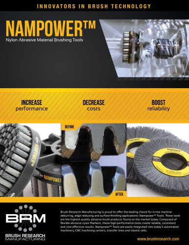 Nampower Abrasive Disc and Wheel Brushes