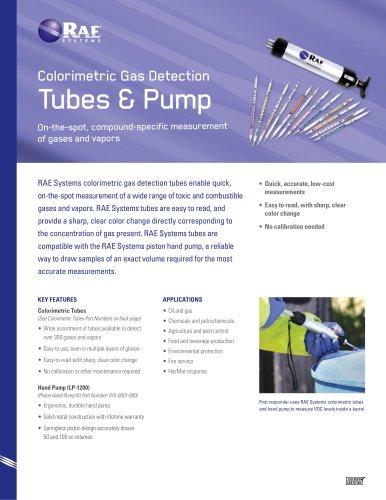 Colorimetric Gas Detection Tubes and Pump