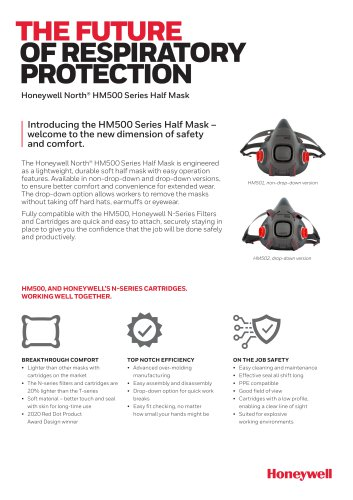 THE FUTURE OF RESPIRATORY PROTECTION Honeywell North® HM500 Series Half Mask