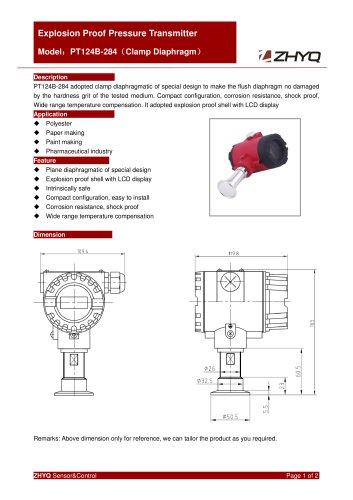 ZHYQ Explosion proof pressure transmitter PT124B-284 pressure measurement for hazardous locations