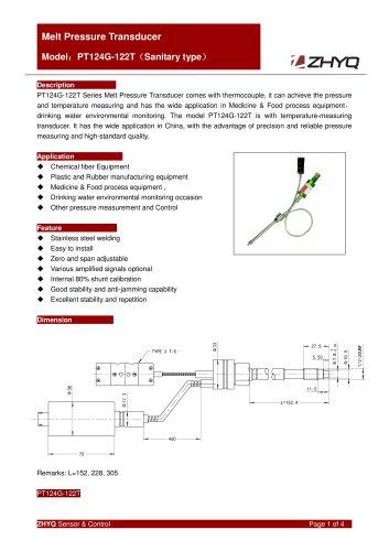 ZHYQ Melt pressure tranducer PT124G-122/122T food machine