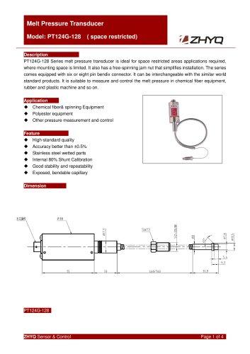 ZHYQ Melt pressure transducer PT124G-128 plastic extruder