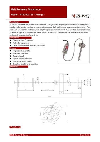 ZHYQ Melt pressure transmitter PT124G-126 plastic extruder