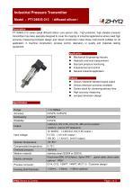 ZHYQ Pressure transmitter PT124B-212 industrial pressure measurement
