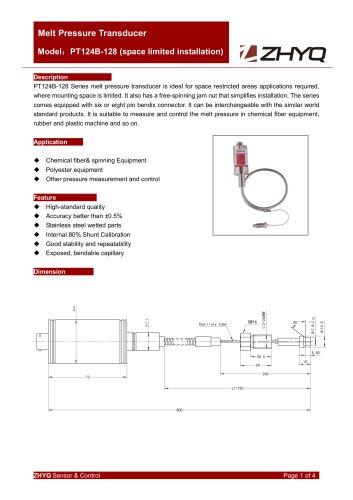 ZHYQ PT124B-128 melt pressure transmitter for plastic extruder
