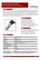 ZHYQ PT124B-211 Pressure Transmitter for Gas and Hydraulic Pressure Measurement