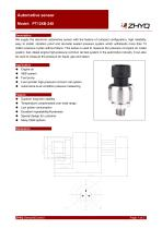 ZHYQ PT124B-240 automotive pressure transmitter for fuel oil measurement