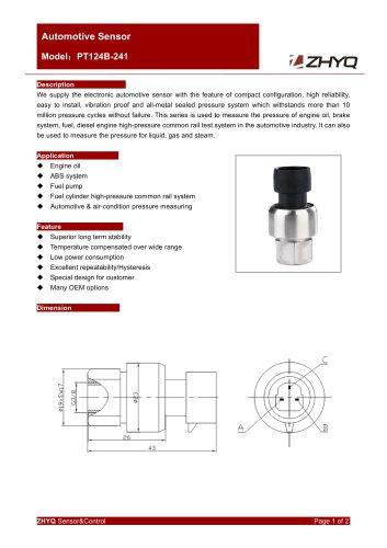 ZHYQ PT124B-241 automotive pressure transmitter with female thread