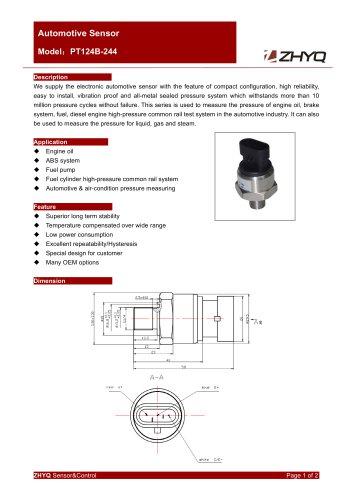 ZHYQ PT124B-244 automotive pressure transmitter with brass housing