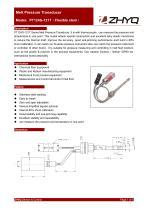 ZHYQ PT124G-121T flexible melt pressure transducer for plastic extruder