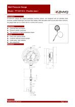 ZHYQ PT124Y-614 Mechanical flexible stem melt pressure gauge
