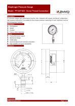 ZHYQ PT124Y-620 diaphragm pressure gauge for homogenizer machine