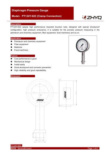 ZHYQ PT124Y-622 diaphragm pressure gauge for homogenizer machine